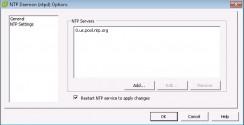 Add multiple NTP servers.