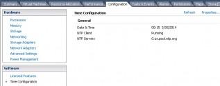 Configuring NTP on ESXi