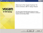 Veeam Explorer for Active Directory Installation