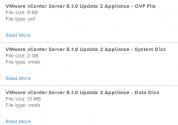 Download vCenter Server Appliance files