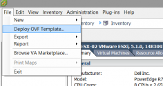 Click File > Deploy OVF Template