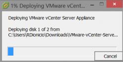 Uploading vCenter Server Appliance