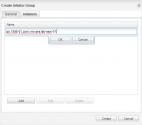 Adding the initiator name