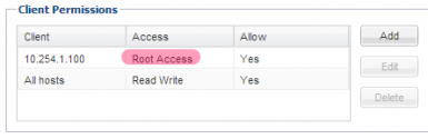 Root Access to NFS Share
