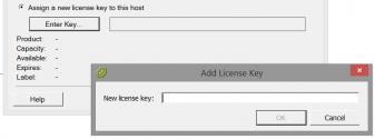 Adding a new license key