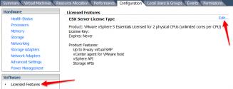 vSphere Licensing Features