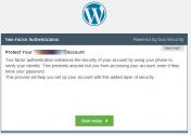 Start setup of Duo Security