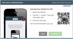 Activating the Duo Mobile app